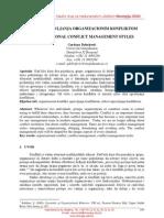 Stilovi Upravljanja Organizacionim Konfliktom