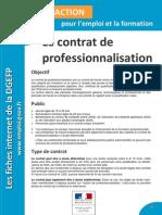 Fiche Contrat Professionnalisation