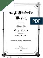 Handel - Berenice - Score