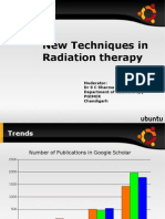 New Techniques in Radiotherapy