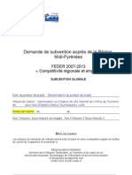 Dossier de demande de subvention Grands Sites