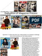 Evaluation of Magazine Process & Photographs