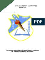Plan de Gestión de uso de TIC de la Normal Santa Ana