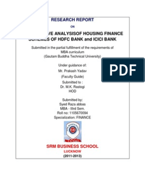 power of attorney form hdfc bank  Analysis of Housing Finance Schemes of HDFC Bank ICICI Bank ...