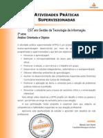 ATPS Analise Orientada Objetos