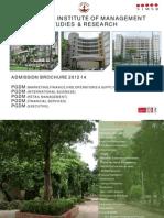 Pgdm Admission Brochure 2012 14