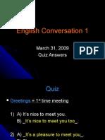 Conversation Quiz 1 Answers