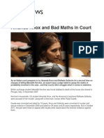 Bad Maths in Court - Intuition