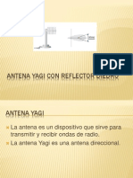 Antena Yagi Con Reflector Diedro