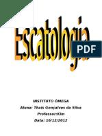 Escatologia - Thais