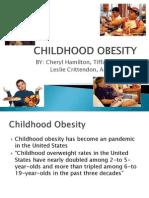 childhood obesity 1 ppt presentation