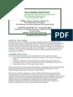 MESDA Course Description