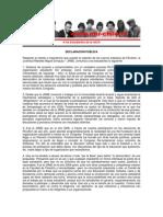 Declaración Pública - JRME Valdivia - 29 abril 2013
