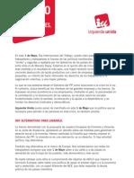 Manifiesto IU 1 Mayo 2013