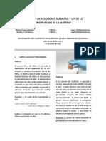 Informe 7 (Secuencia de Reacciones Quimicas)