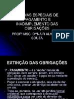 DIREITO DAS OBRIGAÇÕES - FORMAS ESP. PAGAM. E INADIMPLEMENTOS.ppt