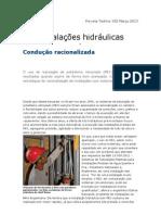 Inst. Hidraulicas - Condução Racionalizada - Revista Techne 192 Mar 2013