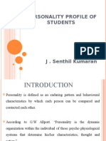 PERSONALITY PROFILE OF STUDENTS