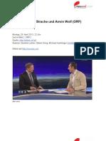 """""""Ein Minus ist eine Niederlage. Und ein Plus ist ein Sieg."""" – Transkript vom Interview mit Armin Wolf und Heinz-Christian Strache in der ZIB 2 (29. April 2013)"""