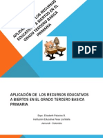 APLICACIÓN DE  LOS RECURSOS EDUCATIVOS   ABIERTOS.