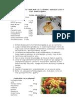 Taller 6 Cocina Gourmet Internacional Filete Margarita Arroz de Coco Ens Fresca Nanny Cafe Marrasquino
