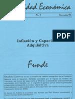 Actualidad Económica 1996 - Inflación y capacidad adquisitiva