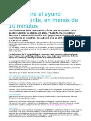 dieta de ayuno intermitente pdf