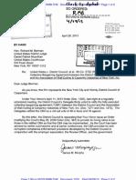4-26-13 James Murphy Letter to Judge Berman Doc. 1310