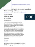 Surinder Singh and Confused Caseworkers