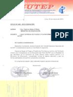 Pliego de Reclamos Sutep-Minedu 04-2013
