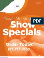 Texas Meeting Show Specials