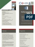 Face Course Flyer 2013