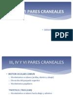 III, IV y Vi Pares Craneales