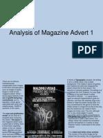 Magazine Advert Analysis 1
