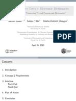 Samuel Läubli, Sabine Tittel, Martin-Dietrich Glessgen, Linking Primary Texts to Electronic Dictionaries