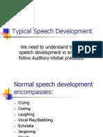 Auditory Verbal Typical Speech Development