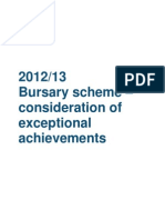 Bursaries Consideration of Exceptional Achievements