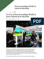 LG trae al Perú la tecnología OLED