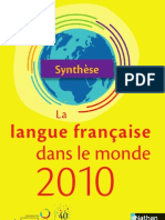 Synthese Langue Francaise 2010