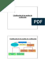 Clasificación medios verificación
