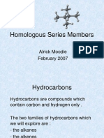 Homologous Series Members