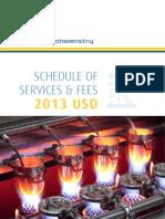ALS Geochemistry Service Schedule 2013 - USD