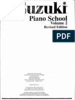 méthode - suzuki, piano school volume 2