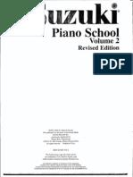 méthode - suzuki, piano school volume 2