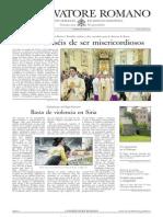 L´OSSERVATORE ROMANO - 26 Abril 2013