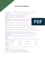 Tutorials Computer Programming