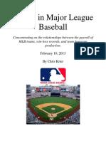 Trends in Major League Baseball