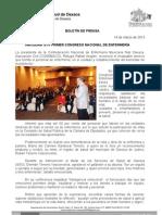 14/03/13 Germán Tenorio Vasconcelos NAUGURA GTV PRIMER CONGRESO NACIONAL DE ENFERMERÍA