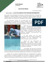 17/03/13 Germán Tenorio Vasconcelos monitorea y Vigila Sso Albercas Para Prevenir Enfermedades
