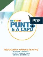 Programma Amministrativo 2013 - 2018 - PUNTO E A CAPO